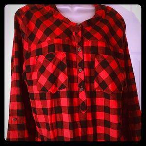 Eddie Bauer buffalo plaid pullover flannel - 2X